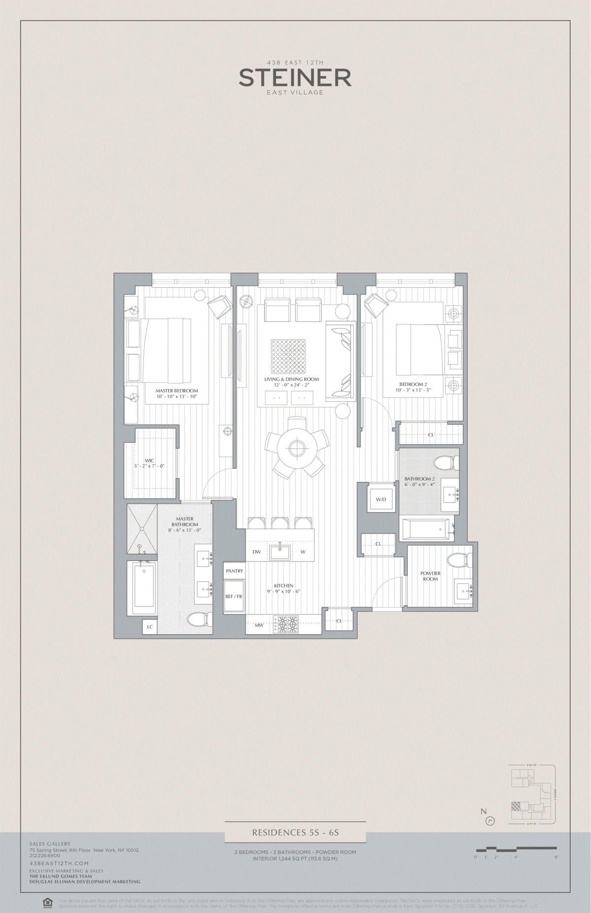 438 East 12th Street 5s In East Village Manhattan Streeteasy Floor Plans East Village New York City Apartment