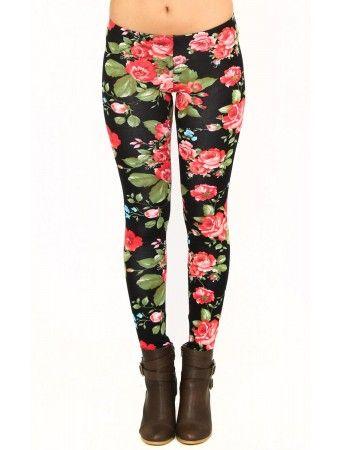 Floral Paradise Knit Leggings