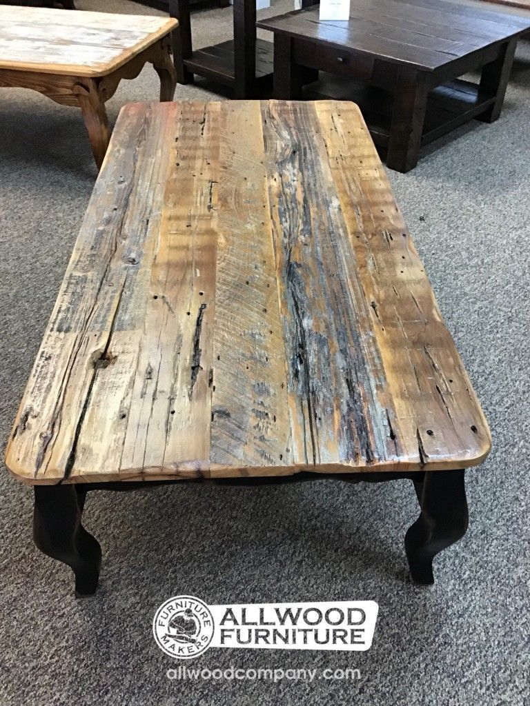 French Leg Barnwood Top Coffee Table At Baton Rouge In Stock Br 422