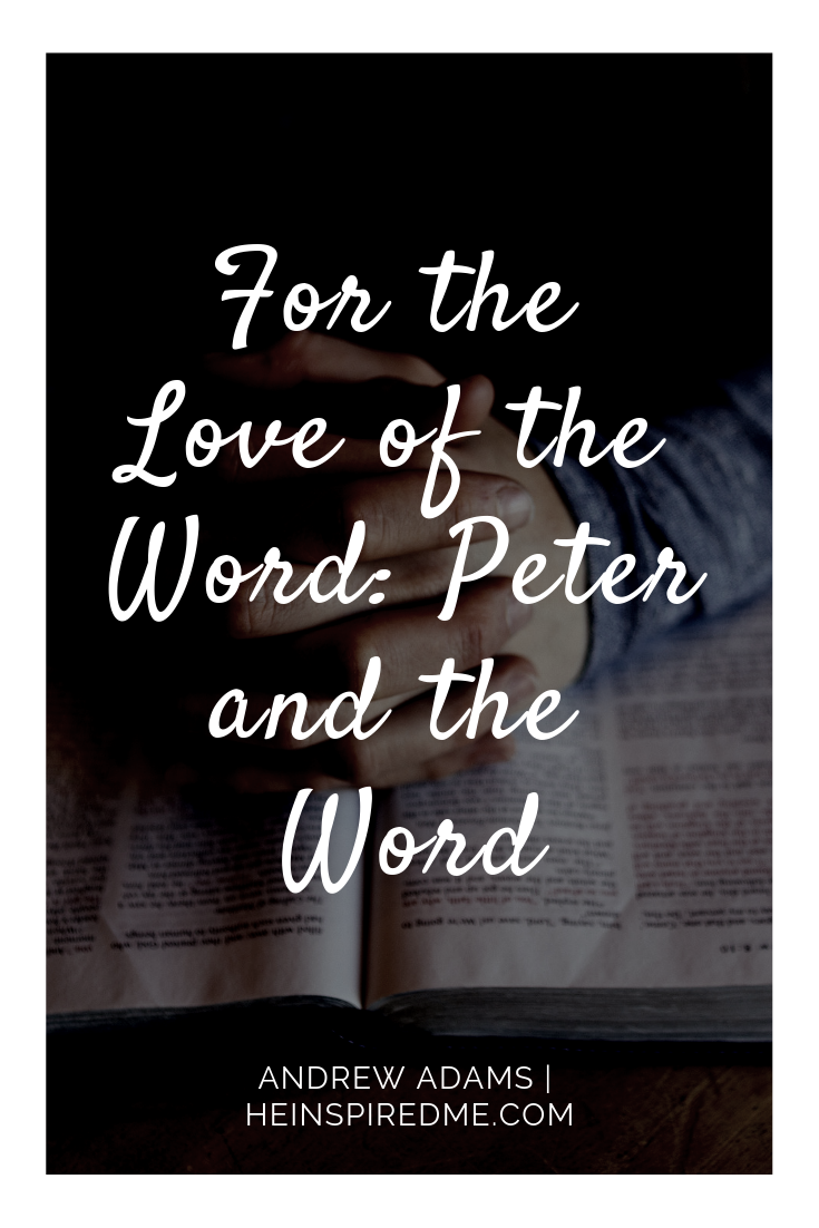 For the Love of the Word: Peter and the Bible | Blogging for