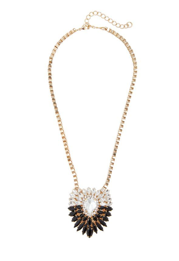Now this is a statement necklace Form day to night, night to day - statement form