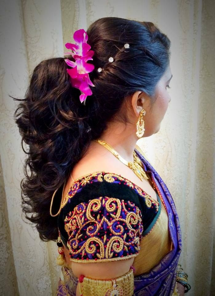 Indian Bride S Bridal Reception Hairstyle By Swank Studio Find Us At Https Www Facebook Com Swankstudi Hair Styles Indian Bridal Hairstyles Bride Hairstyles