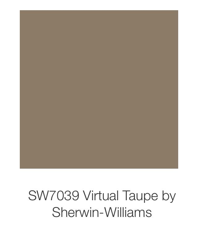 Virtual taupe by sherwin williams our wall colors in the for What is taupe color look like