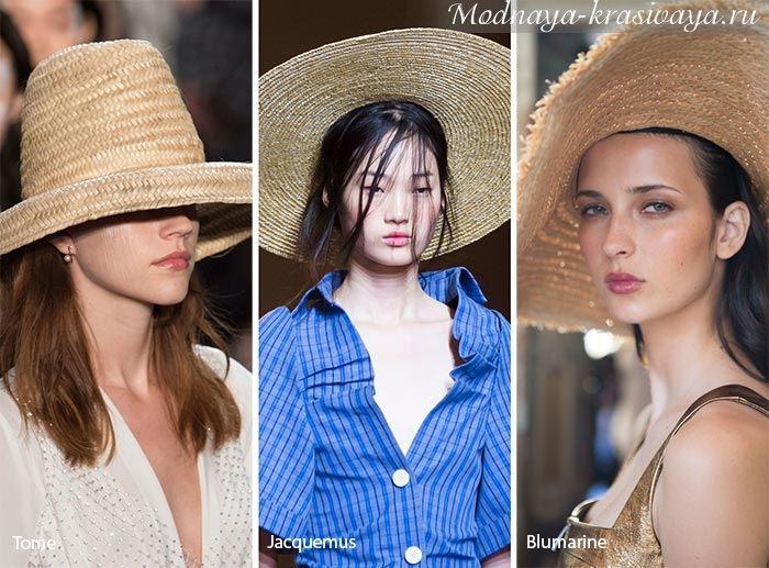 Модные шапки и шляпы весна-лето 2020 - 60 фото с подиума в ...