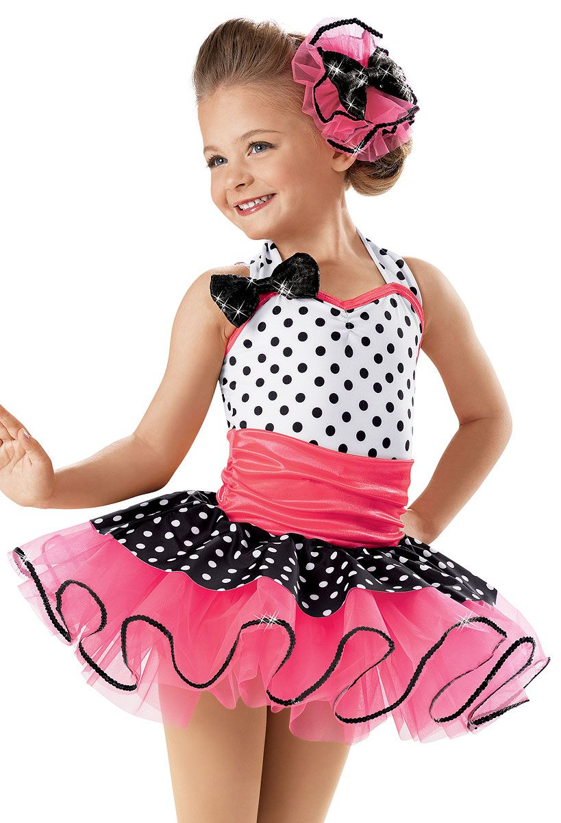 00d6048ba Halter Polka Dot Recital Dress -Weissman Costumes(Rock around the clock)