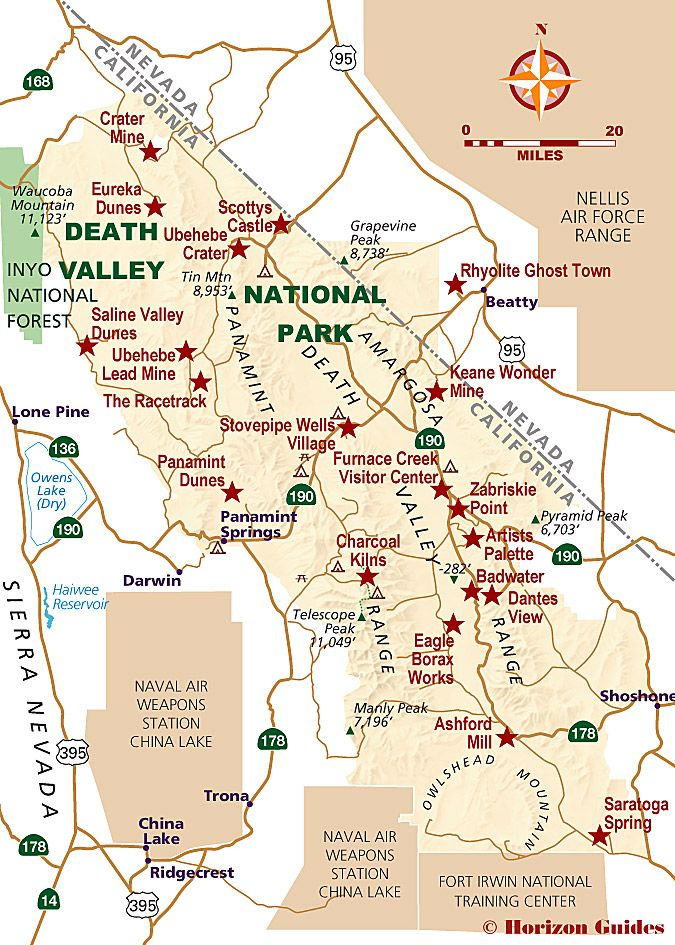 Death Valley National Parks Map USA Pinterest Death valley