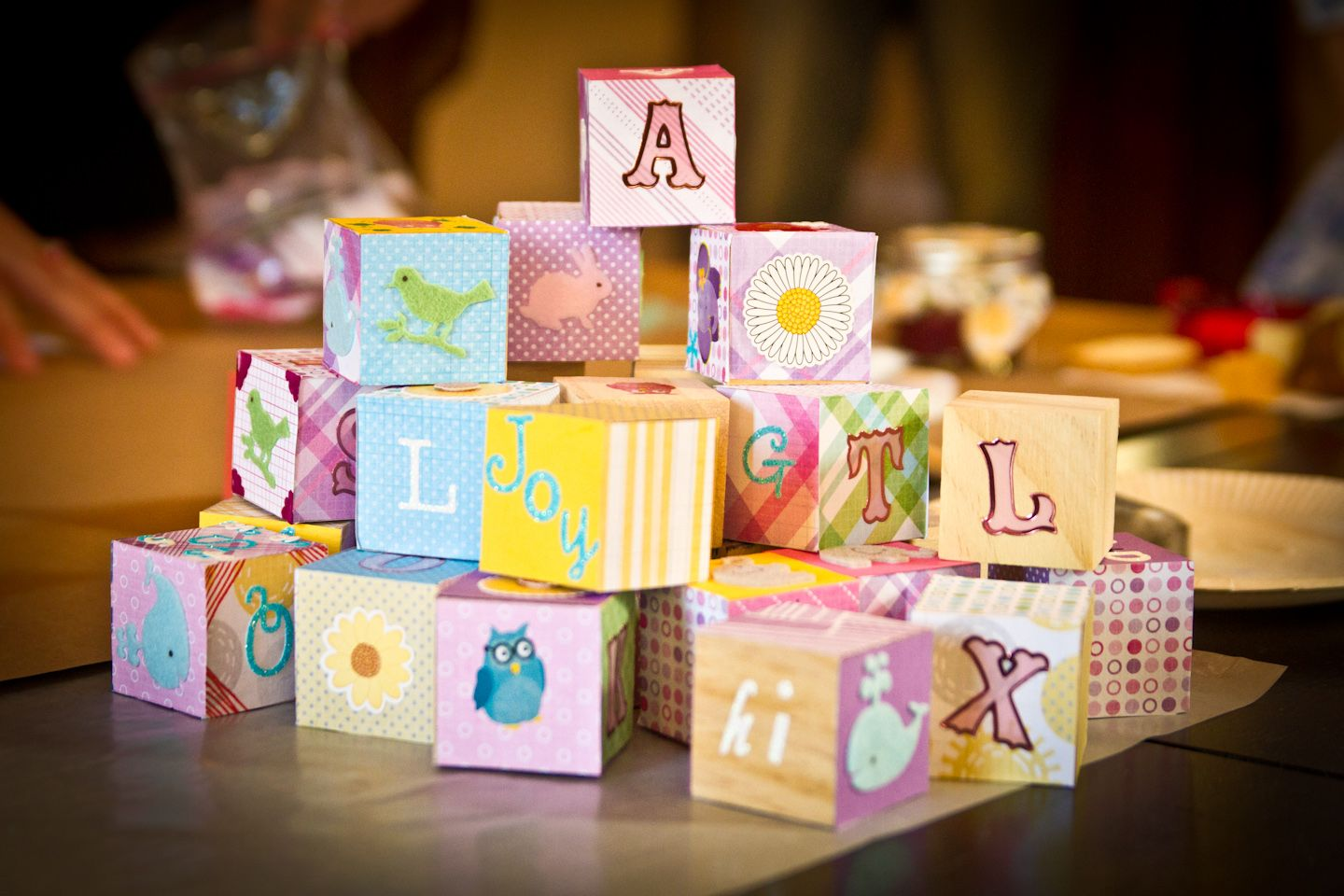 Baby Shower Activity Decorate Wooden Baby Blocks So Cute Baby