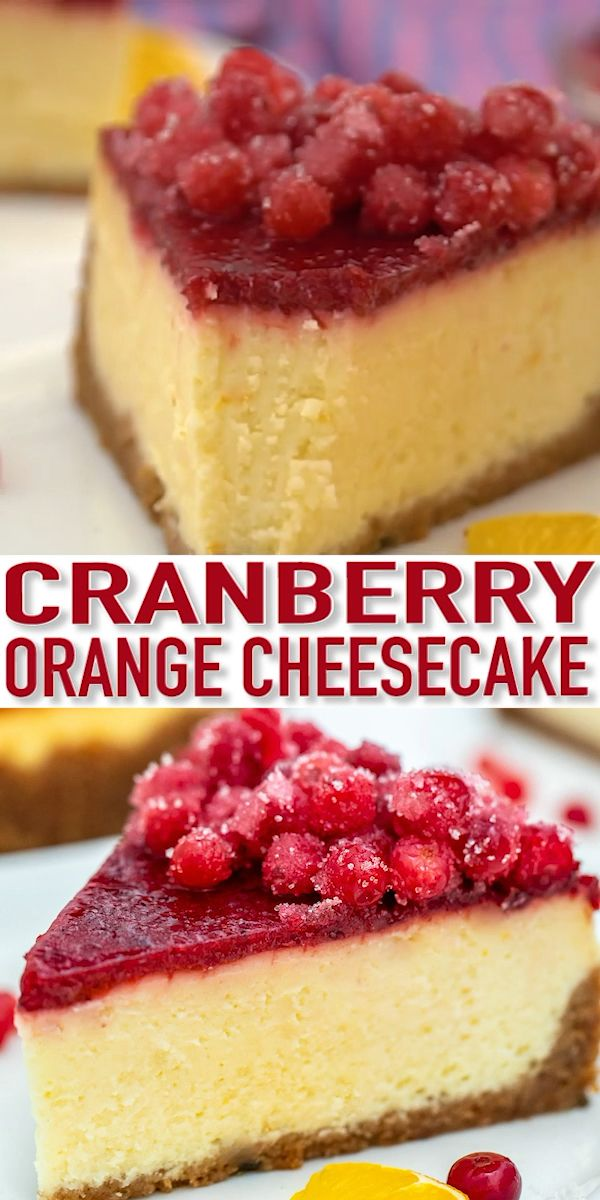 Cranberry Cheesecake Recipe [Video] - Sweet and Savory Meals
