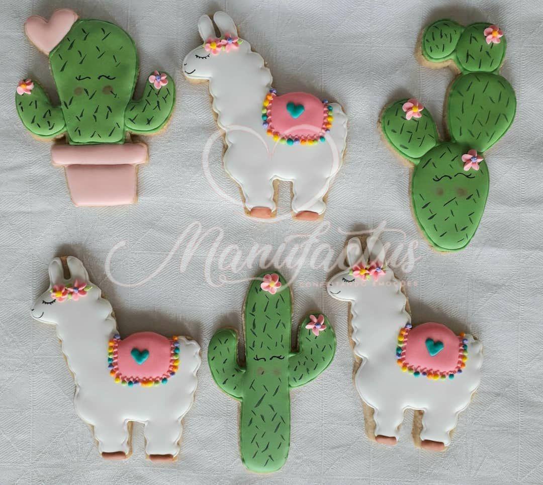 """14 curtidas, 0 comentários - Manufactus - Livia Linhares (@manufactus.livia) no Instagram: """"#lhama #lhamacookies #cactuscookies #cactos #cactus #decoratedsugarcookies #decoratedcookies…"""""""