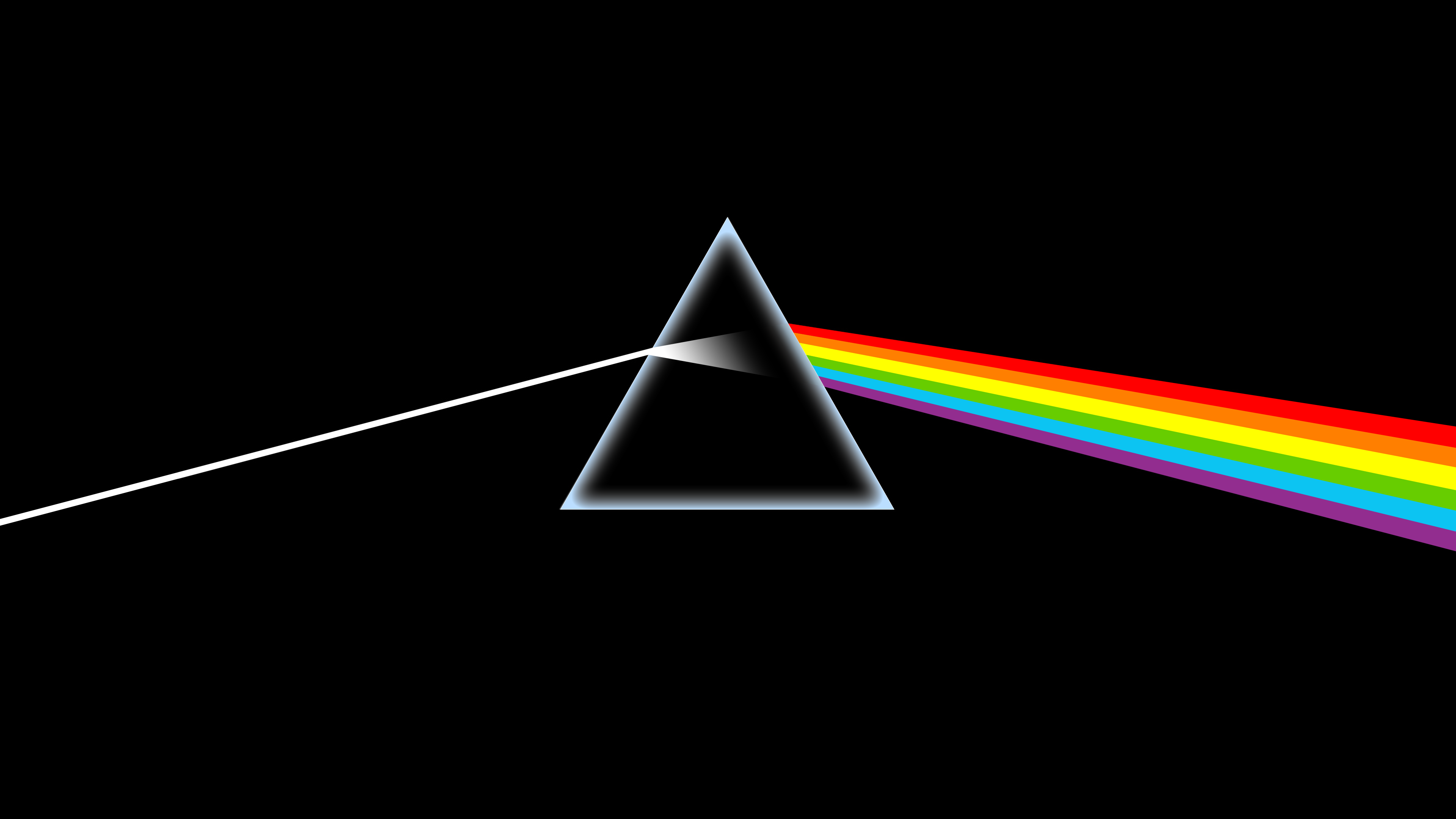 The Dark Side Of The Moon Album Cover Upscaled To 4k Oc