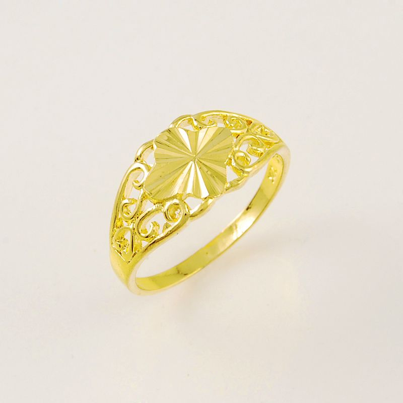 2015 Romantic Rings Special Design 24k Gold Colou Rings Wedding Ring For Women Ladies Wholesale Charm Vintage Wedding Jewelry Jewelry Wedding Rings For Women