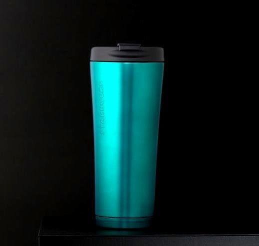 Starbucks Turquoise Stainless Steel Tumbler 16 Fl Oz