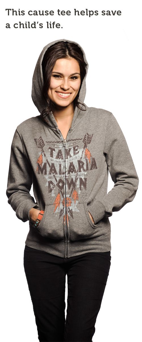 Malaria Bites! Your purchase of this soft fleece #hoodie provides a life-saving mosquito net to a child in Rwanda. Do #good here -> http://svnly.org/PinLink