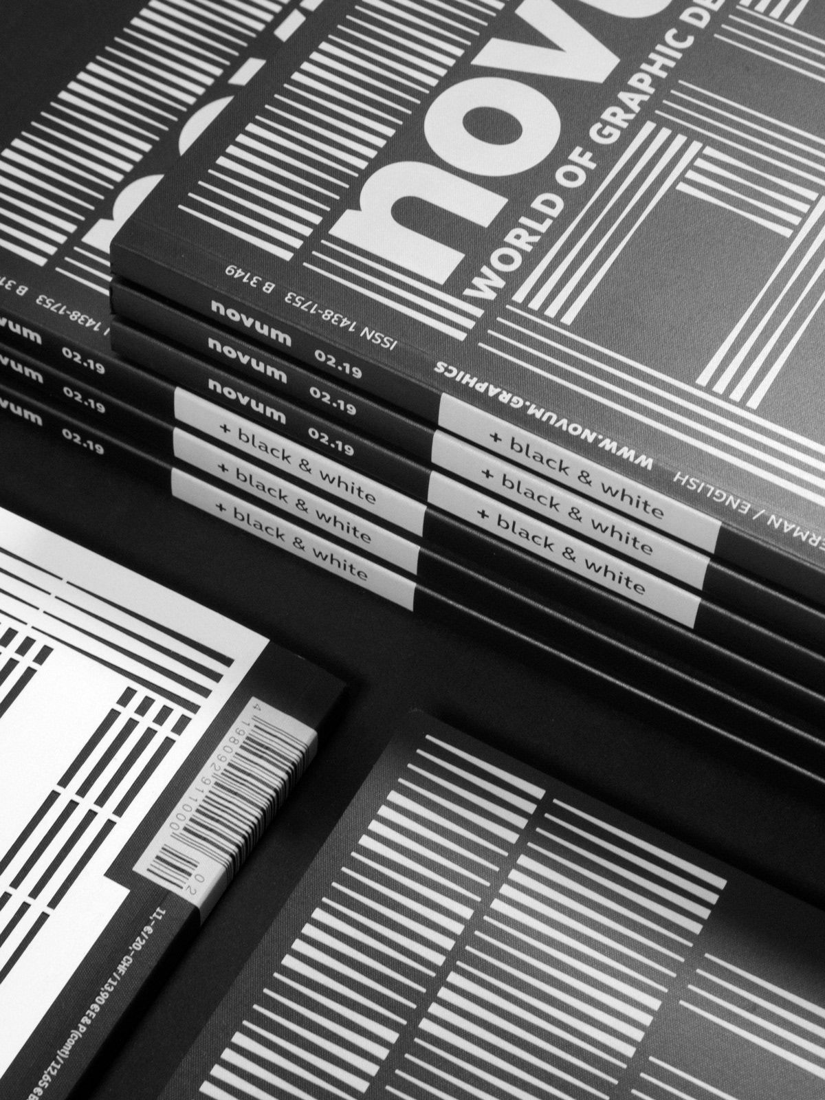 novum 02.19 »black & white« on Behance | Pattern | Minimal graphic ...