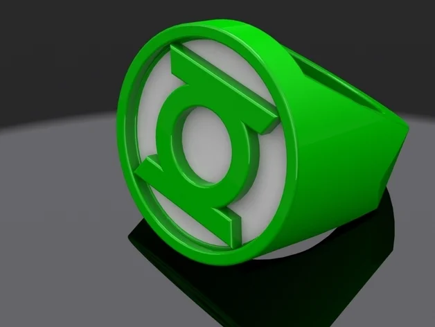 Green Lantern Ring By Itchyd Thingiverse Green Lantern Ring Lantern Rings Green Lantern