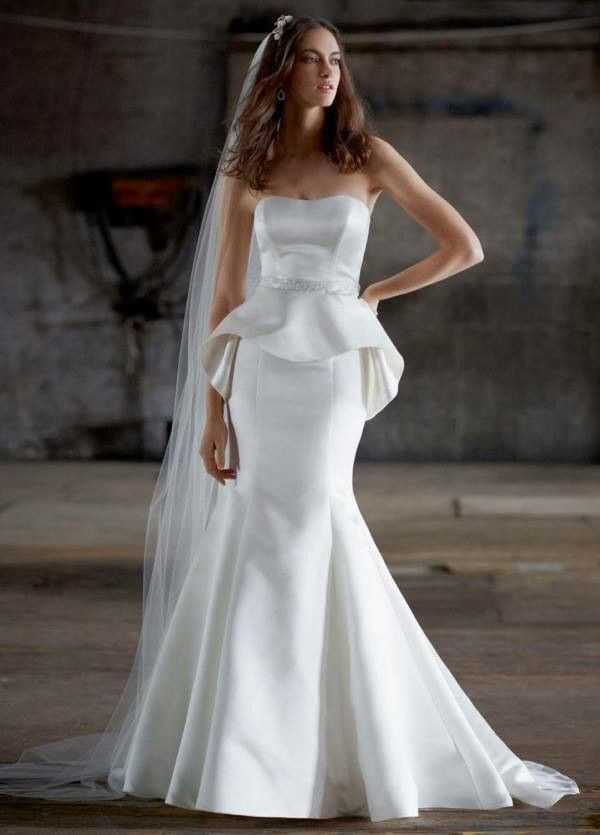 vestido de novia con #peplum | wedding | pinterest | vestidos de