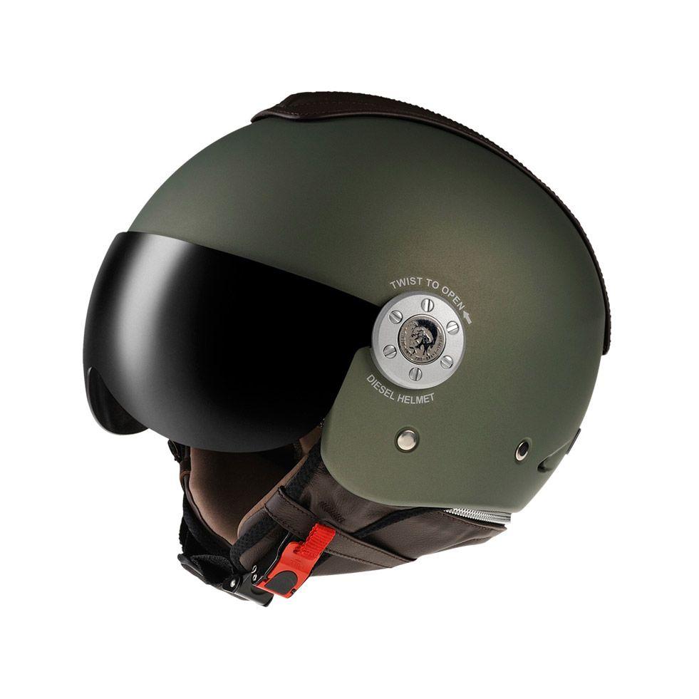a342cfe170ecf Cascos De Moto · Accesorios · Guantes · Matte Green Diesel helmet. hell  yeah! Coches