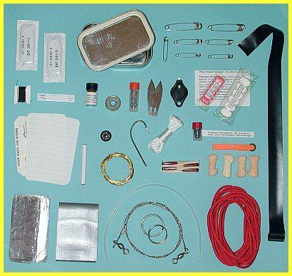 Personal Survival Kit - put in an Altoids tin