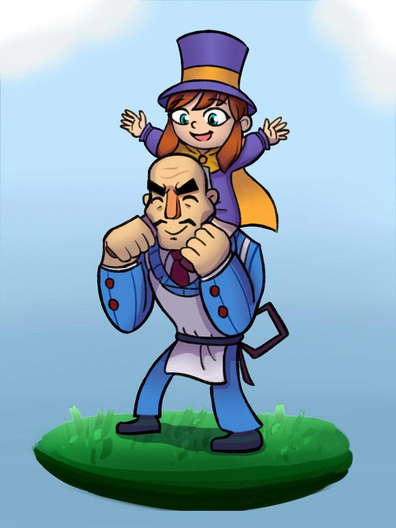 Hat Kid And Mafia A Hat In Time By Axelkauaid A Hat In Time Hat In Time Hat In Time Art