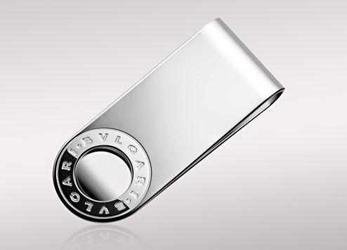 d90c078aed0a Fancy - Bulgari BVLGARI BVLGARI money clip in sterling silver. PS853805