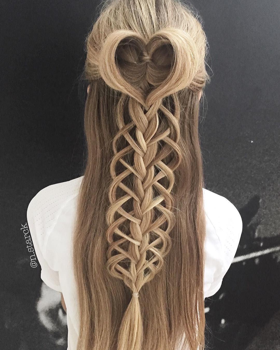Loop Braid And Combo Love Working With Her Hair Hair Styles Simple Prom Hair Hair