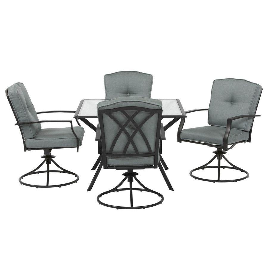 Stupendous Shop Garden Treasures Set Of 2 Cascade Creek Black Seat Gamerscity Chair Design For Home Gamerscityorg