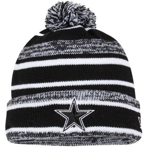 New Era Dallas Cowboys Mens Black Sport Cuffed Knit Hat  ad925643a
