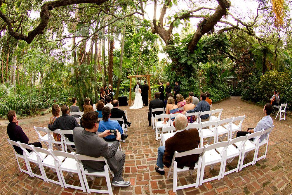 Sunken Garden Weddings Wedding At Gardens In St Petersburg