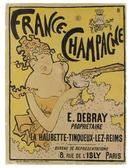 France - Champagne - Reims - 1891 - illustration de Pierre Bonnard -