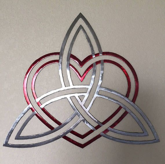 Celtic Knot and Heart Metal Art Celtic Knot Home Decor | Celtic ...