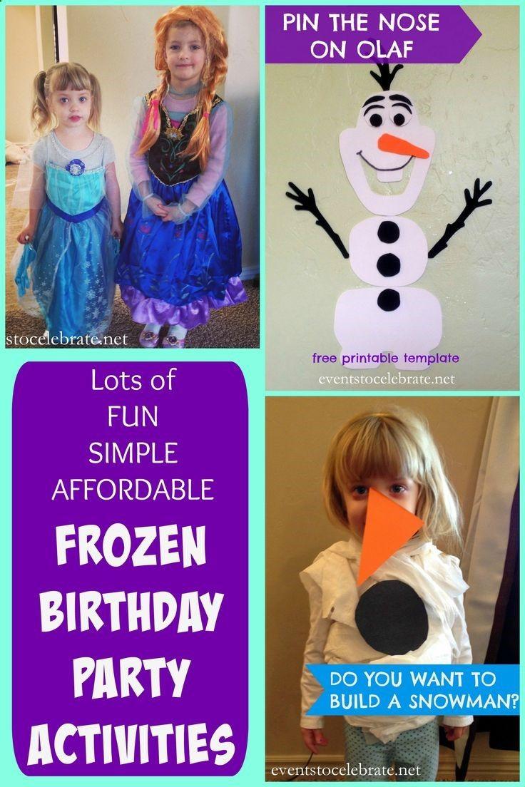 Disneys Frozen Birthday Party Activities Games Crafts Lots of