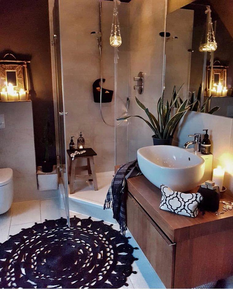 60 Best And Bright Boho Bathroom Ideas In 2020 Boho Zigeuner
