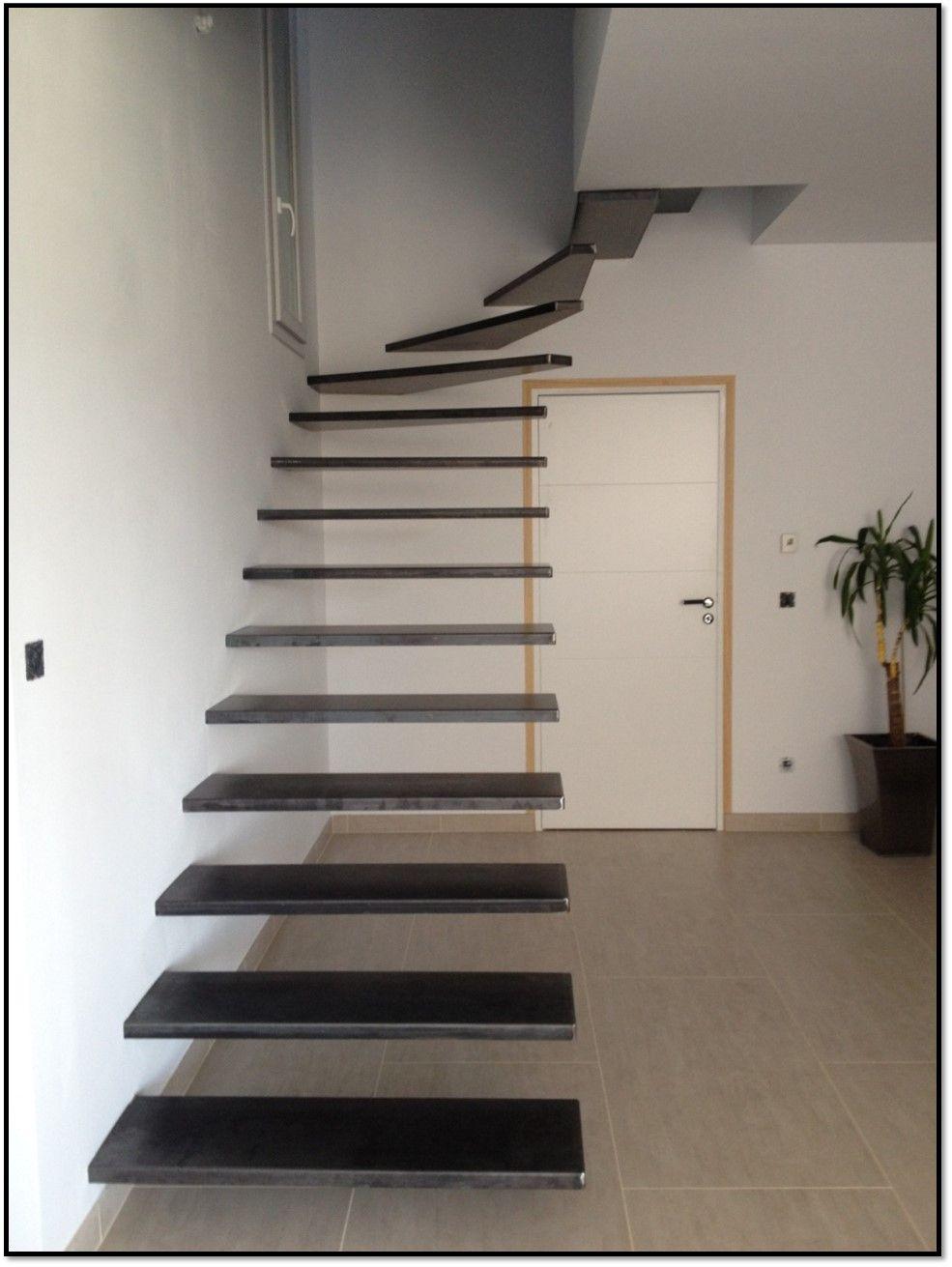 Escalier Suspendu 1 4 Tournant Balance En Acier