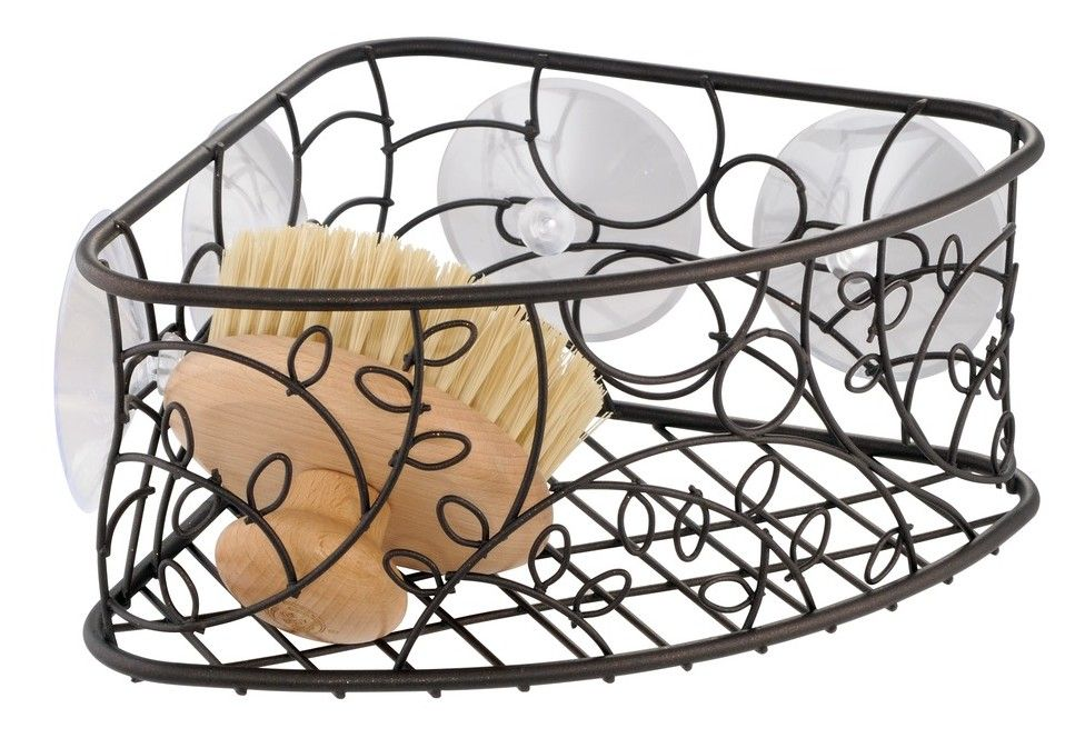 Twigz Suction Corner Bathroom Shower Caddy Basket   My Home ...