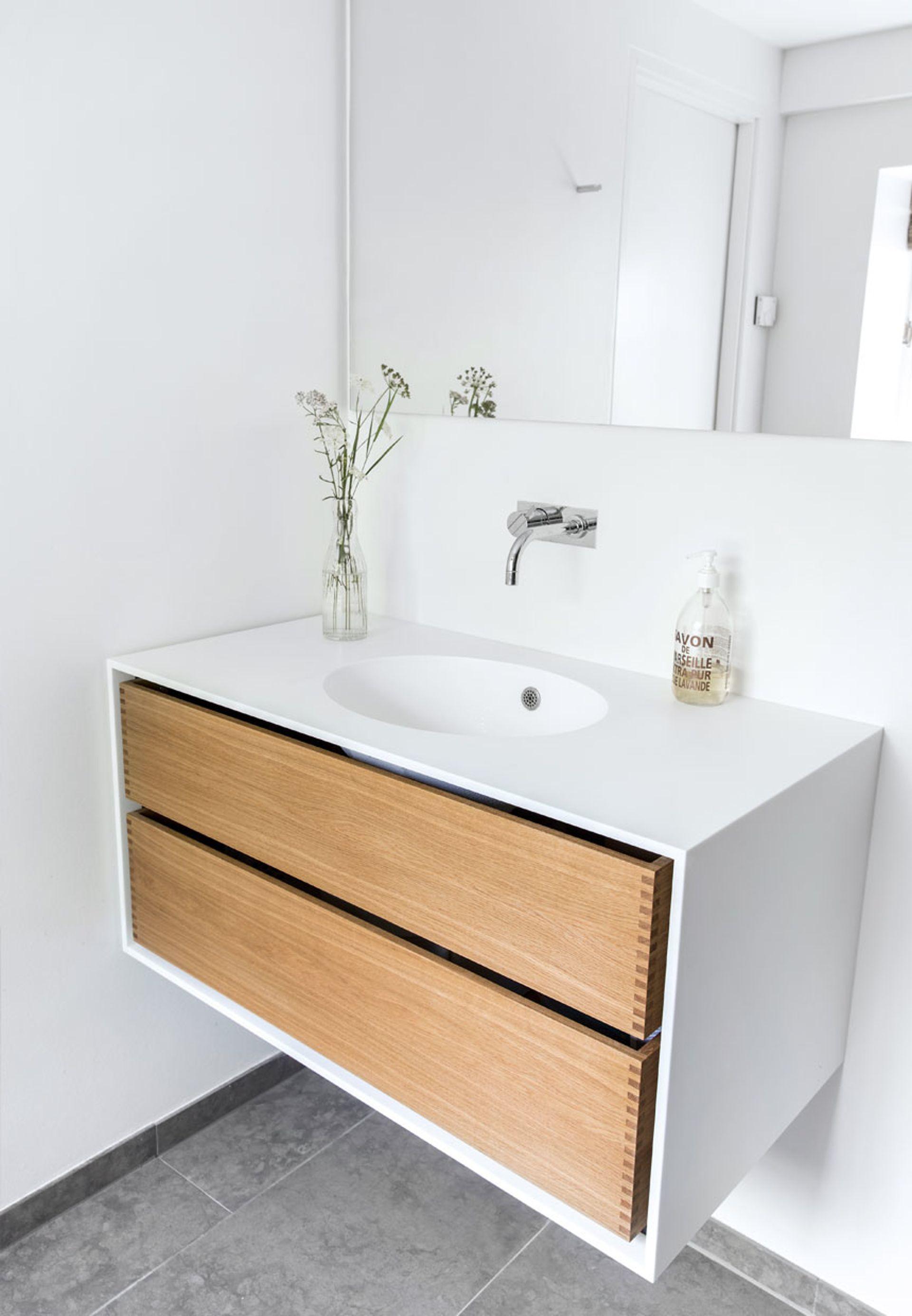 Oiled Oak Olieret Eg Fra Garde Hvalsoe So Beautiful Badevaerelsesideer Badevaerelsesdesign Vask Til Badevaerelse