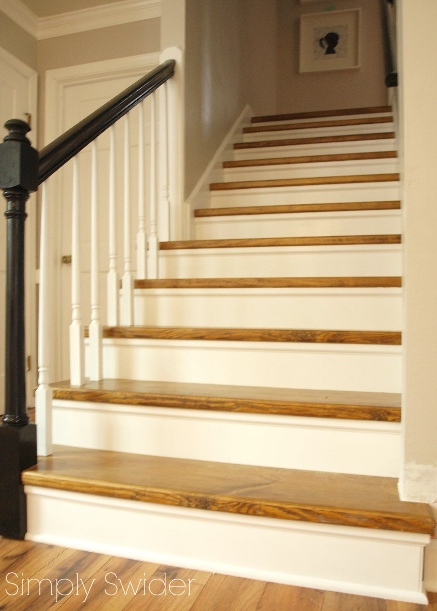 Stairway Makeover From Carpet To Wood