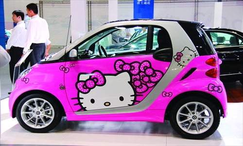 Really Cute Hello Kitty Car I Would Drive This