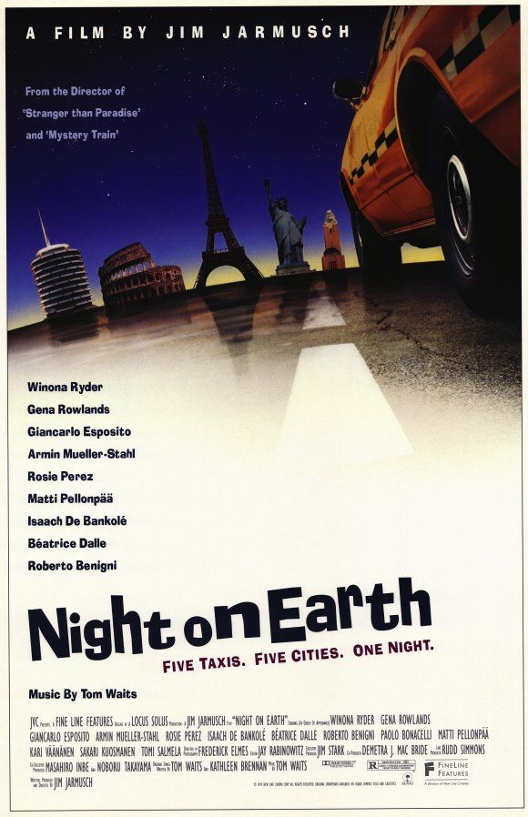 Night on Earth , starring Winona Ryder, Gena Rowlands, Lisanne Falk, Alan Randolph Scott. An anthology of 5 different cab drivers in 5 American and European cities and their remarkable fares on the same eventful night. #Comedy #Drama