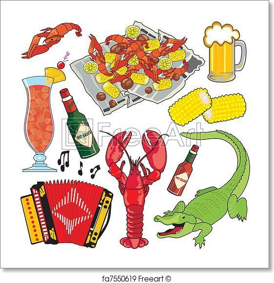 Free art print of Cajun Icons and clipart | Buy It | Cajun ...