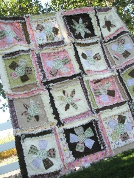 25 Off SALE PATTERN Rag Quilt Sewing Flower by