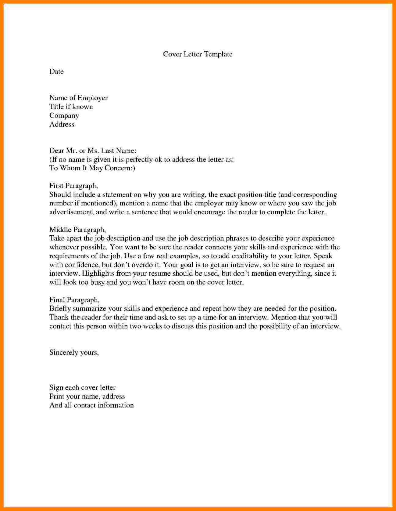 cover letter without recipient