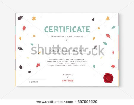 Hand Drawn Certificate Template Diploma Template Design Vector