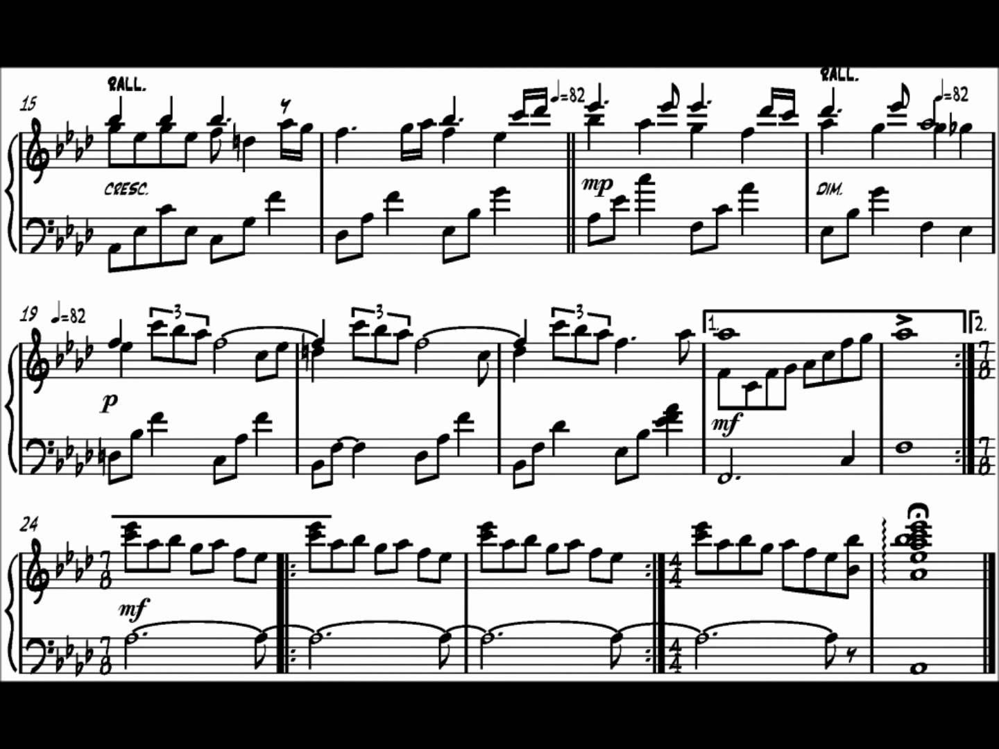 Pat Metheny Letter From Home Piano Transcription Letters