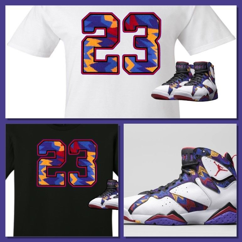 812f013950105 EXCLUSIVE TEE SHIRT TO MATCH THE NIKE AIR JORDAN 7 RETRO SWEATER!   COPEMCUSTOMS  GraphicTee