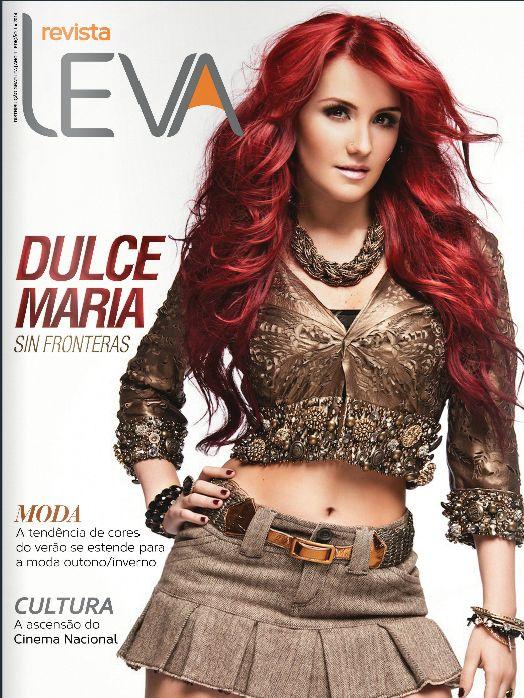 Essa revista nasceu para fazer Sucesso, em março com Dulce Maria: http://issuu.com/revistaleva