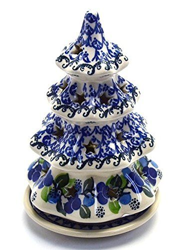 Polish Pottery Christmas Tree With Pl Polish Pottery Polish Pottery Boleslawiec Pottery