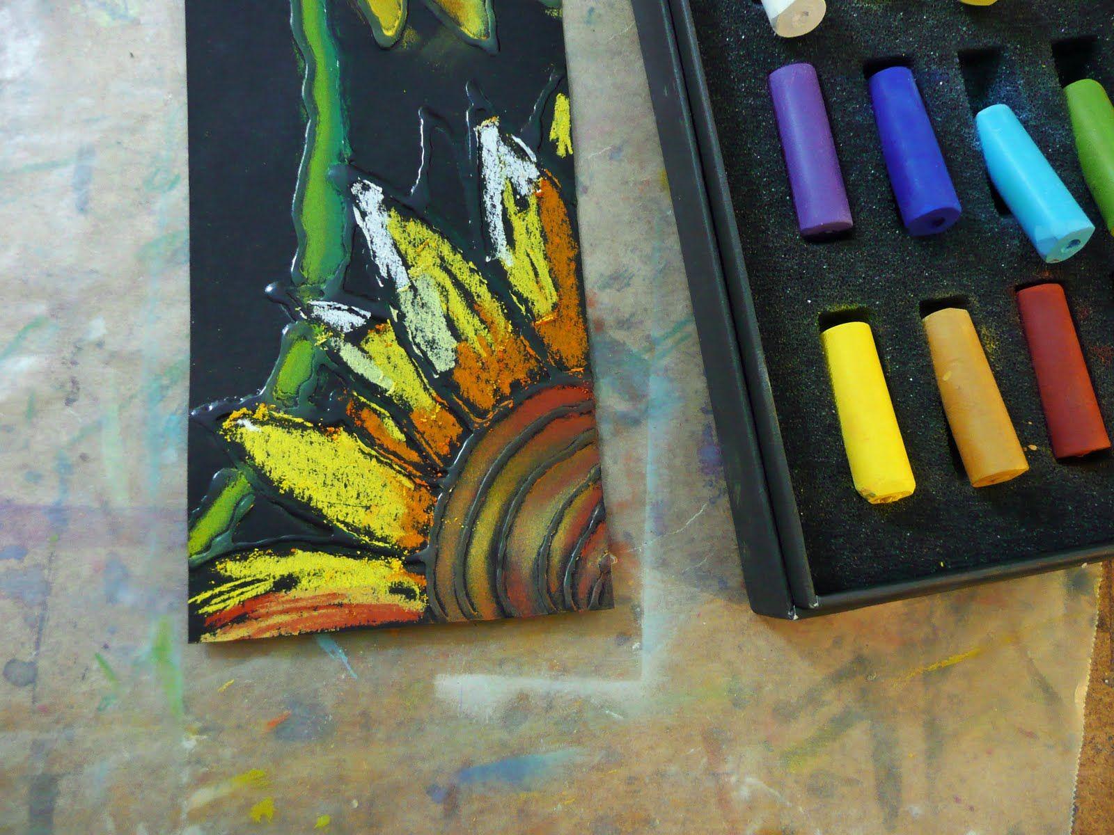 that artist woman: Chalk Pastel Sunflowers   Drawdeas   Pinterest