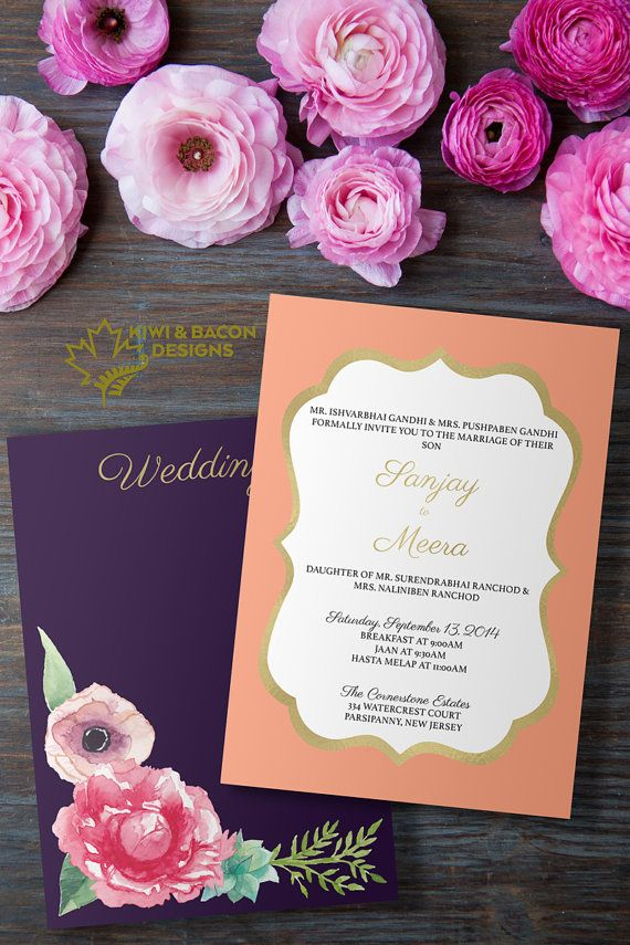Indian wedding invitation card or suite ornate botanical bridal indian wedding invitation card or suite ornate botanical bridal shower baby shower party invite stopboris Image collections
