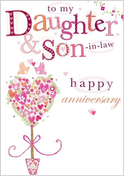 Anniversary daughter and son in law Happy Birthday- Feliz - free printable anniversary cards for parents
