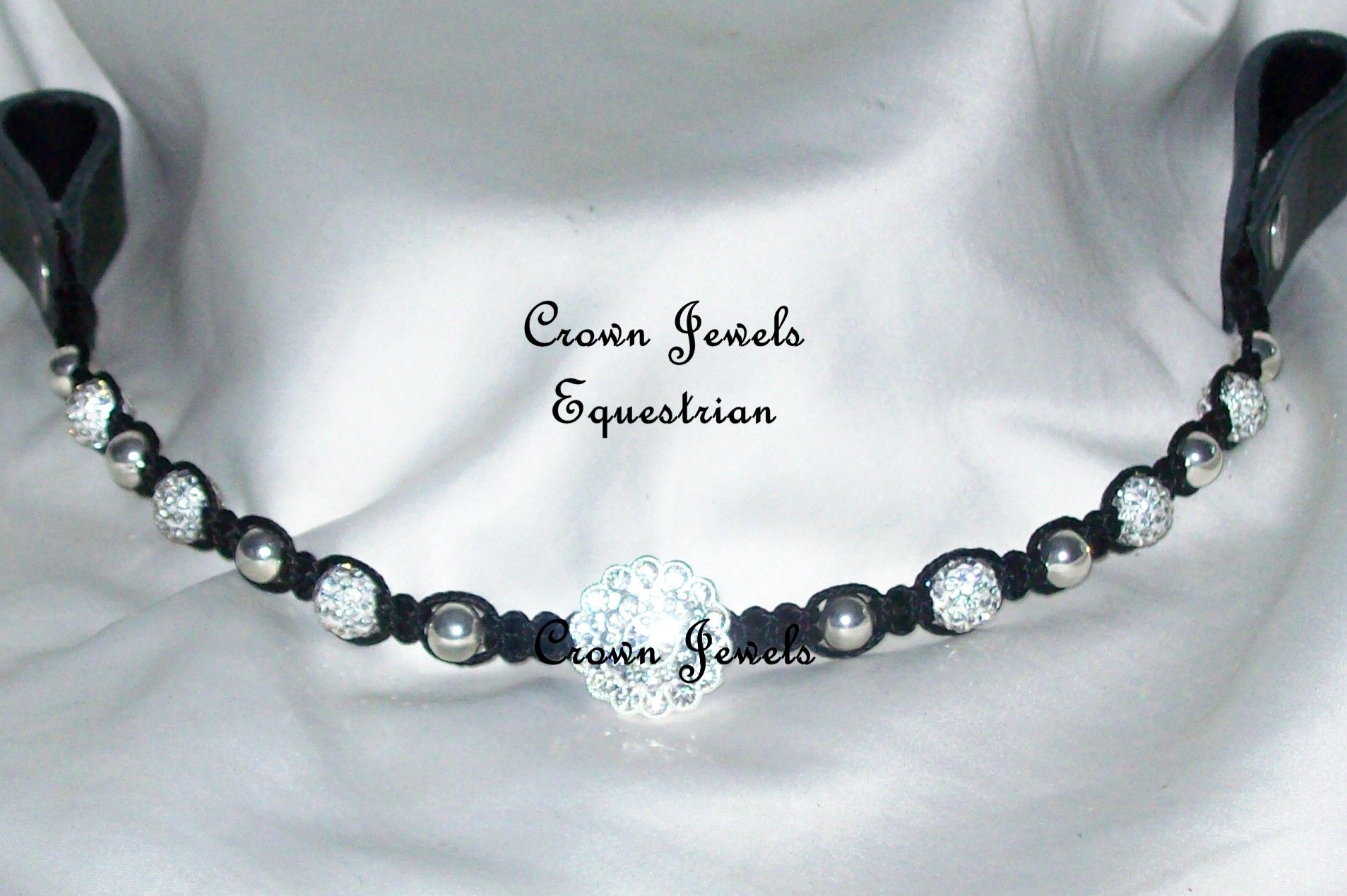 Shamballa Dressage Deluxe Browband | Crown Jewels UK | Beaded Browbands | Custom Browbands & Jewellery